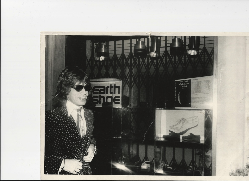 Mick Jagger passing by the store