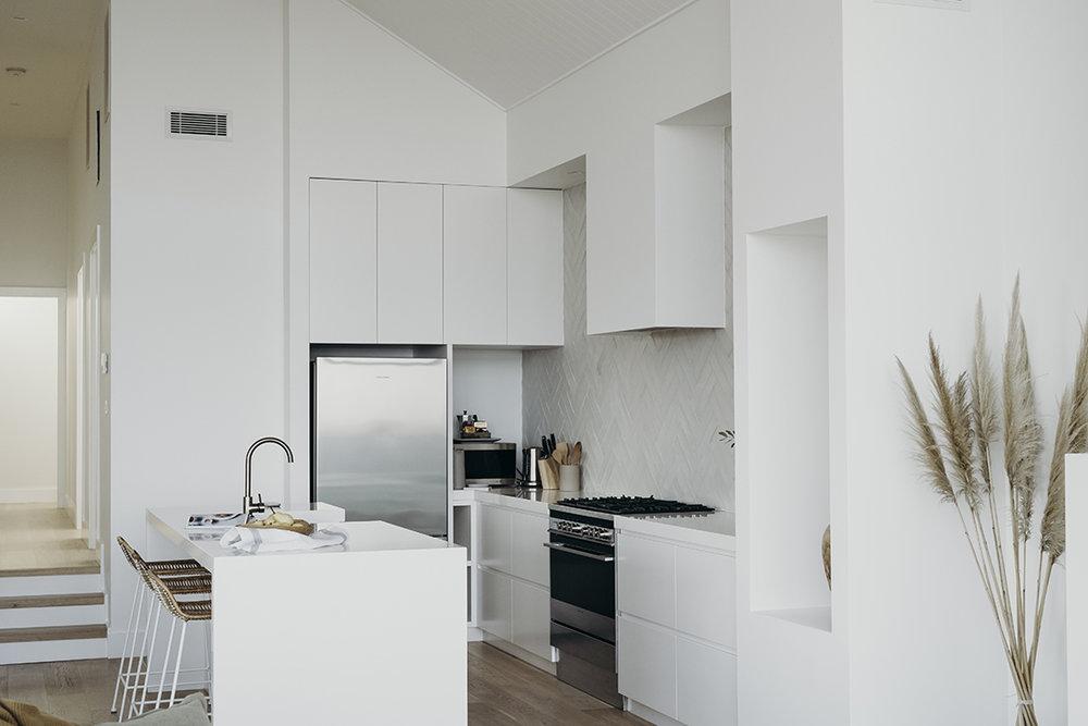 After: Upper Level - Hallway & Kitchen