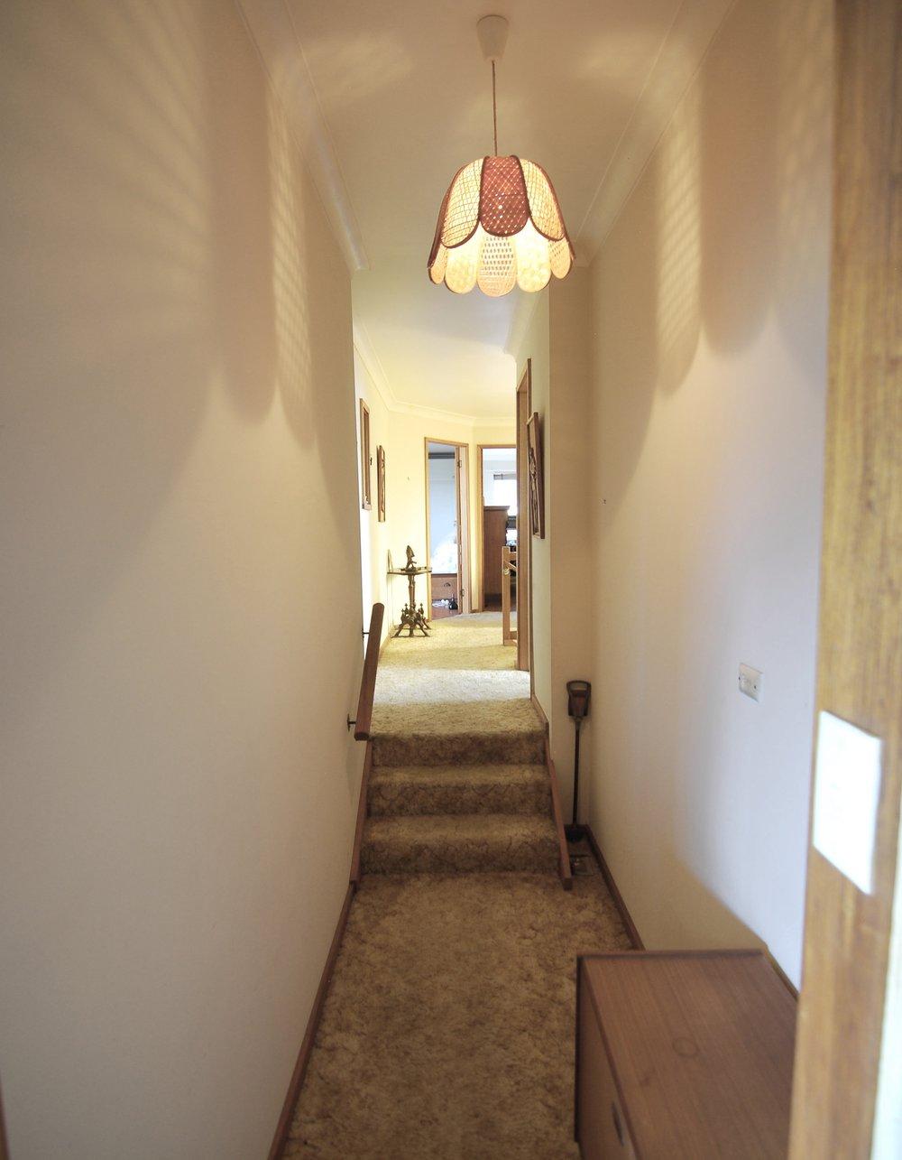 Before: Upper Level - Hallway & Kitchen