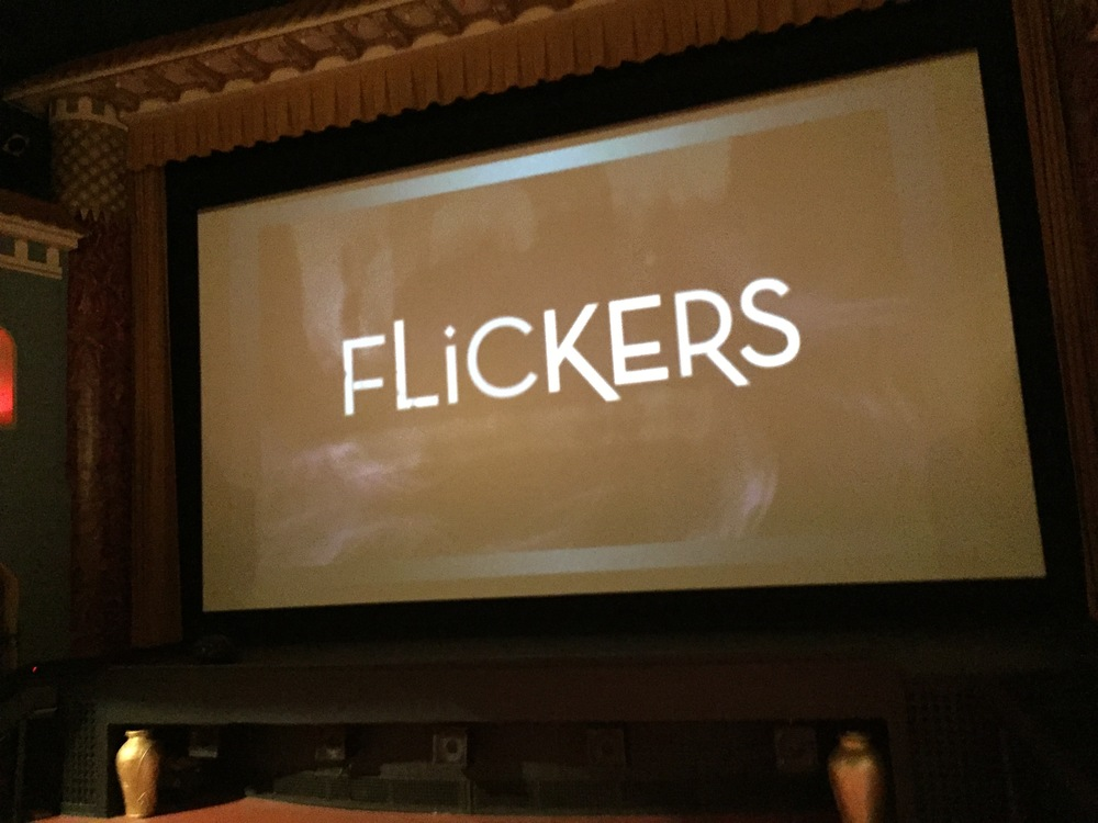 Flickers on the big screen...