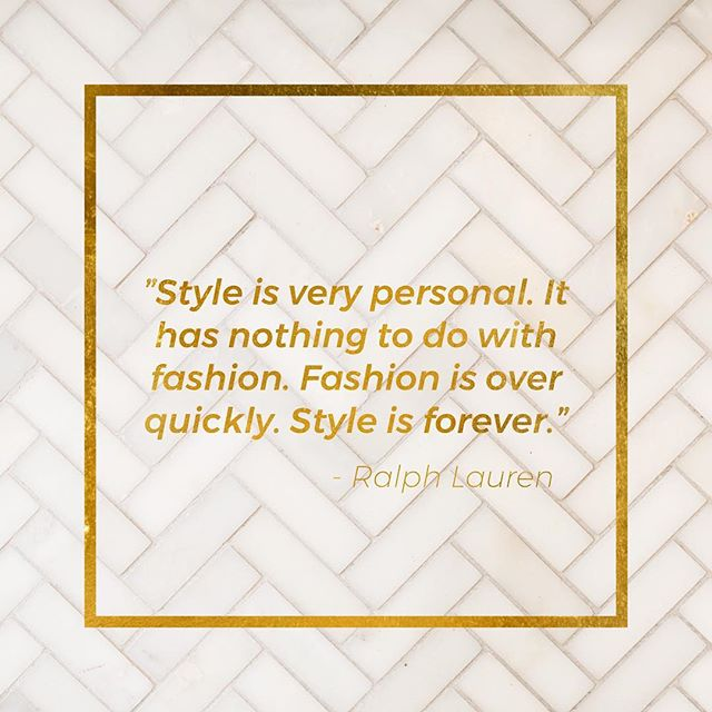 What does style mean to you?