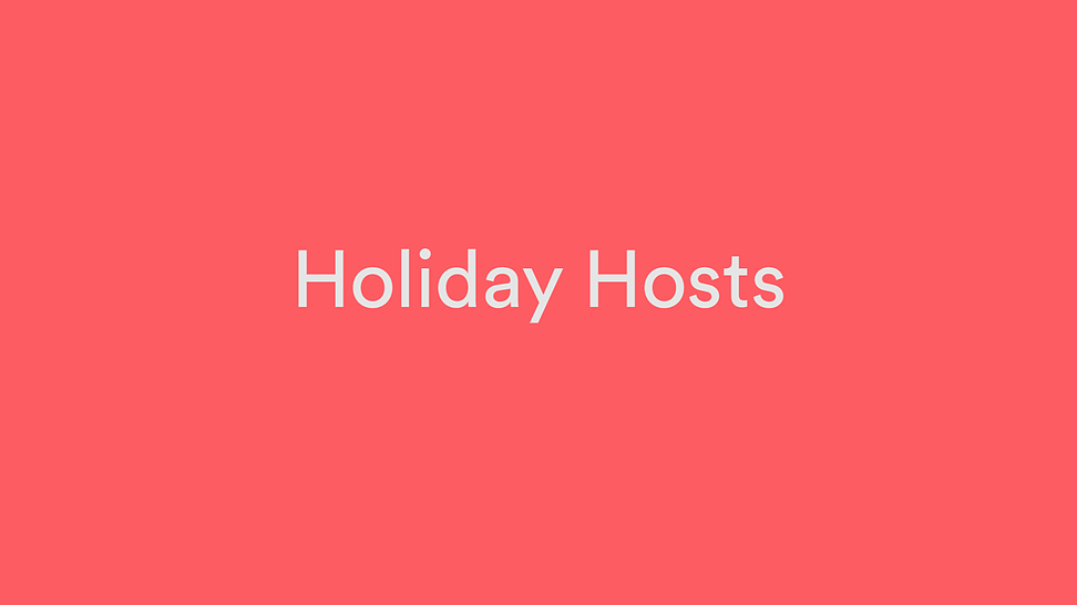 Introducing Holiday Hosts by airbnb