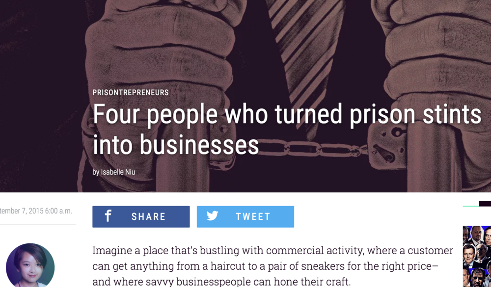 Fused: Four people who turned prison stints into businesses.