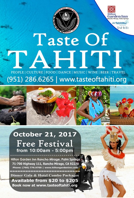 10.21.17 - Taste of TahitiTickets available now