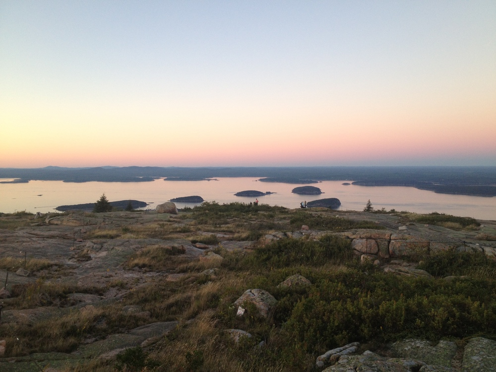 Porcupine Islands from top of Cadillac Mountain, photo by Amy Beth Wright.