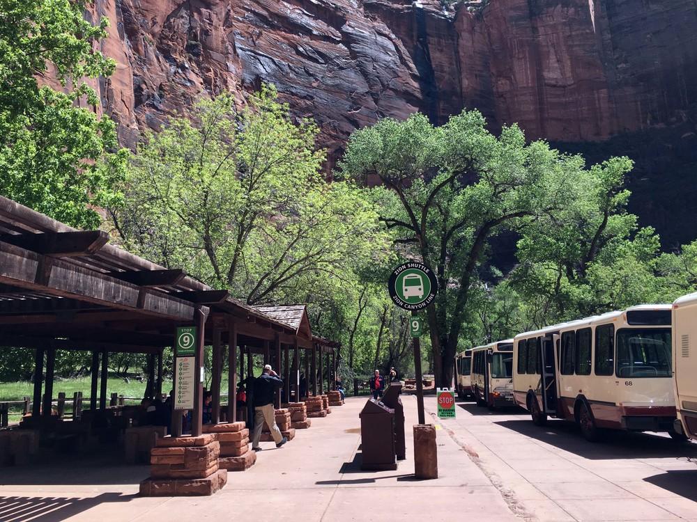 Park shuttle, Zion National Park.