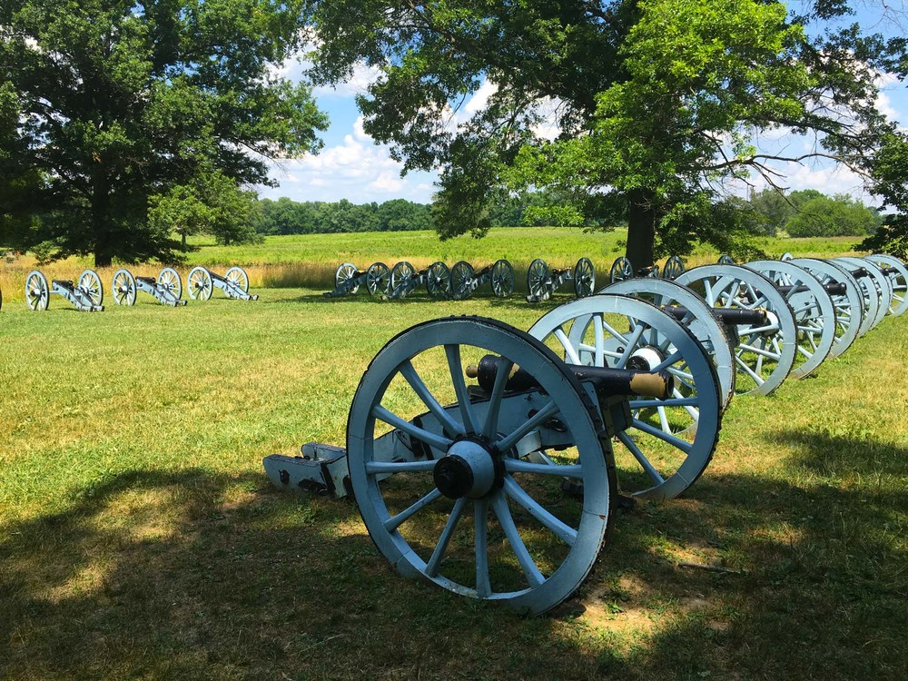 Artillery Park was strategically located so that cannons could be moved easily throughout the encampment if the area fell under attack.
