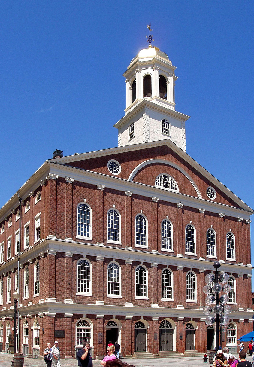 Faneuil Hall ,   photo   Daderot  /  CC BY-SA 3.0