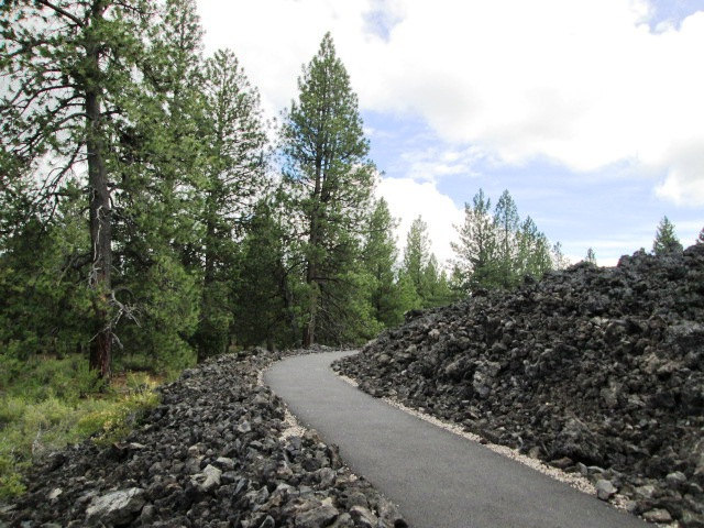 Newberry Volcanic National Monument in Deschutes National Forest, central Oregon.