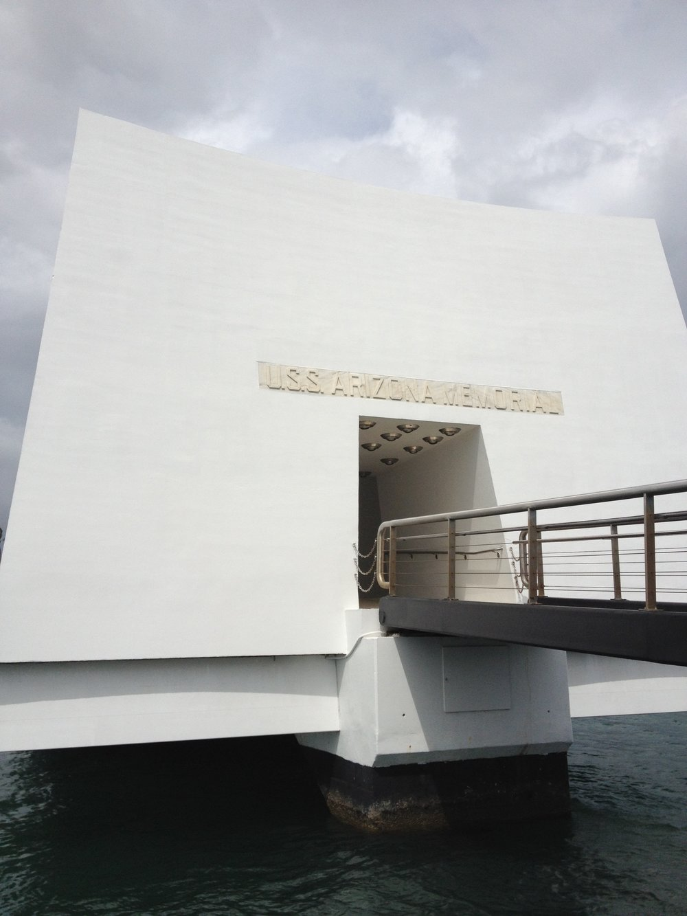 USS Arizona Memorial, photo by Derek Wright.