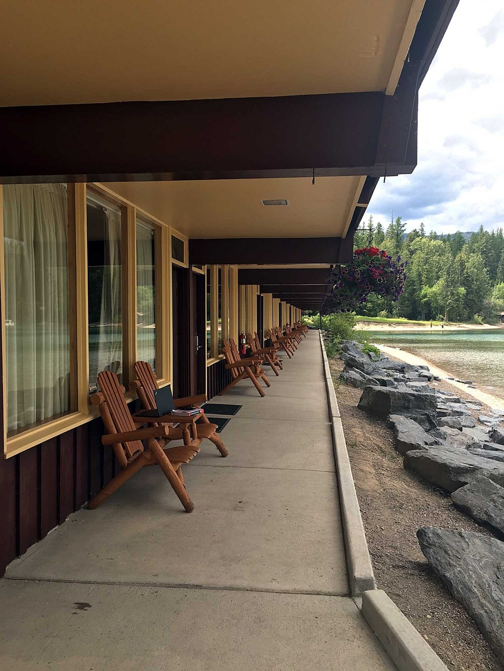 The Village Inn, a Xanterra lodge on Lake McDonald.