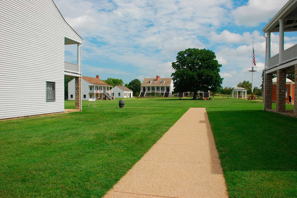 View of Ft Scott Parade Grounds, photo by Bob Wright.