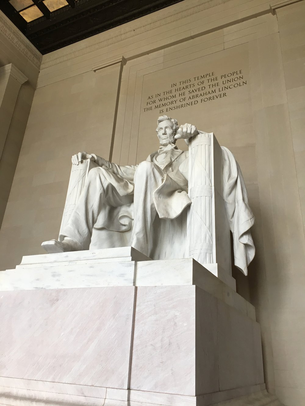 Inside the Lincoln Memorial, photo by Derek Wright.