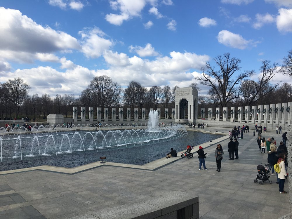 World War II Memorial, photo by Derek Wright.