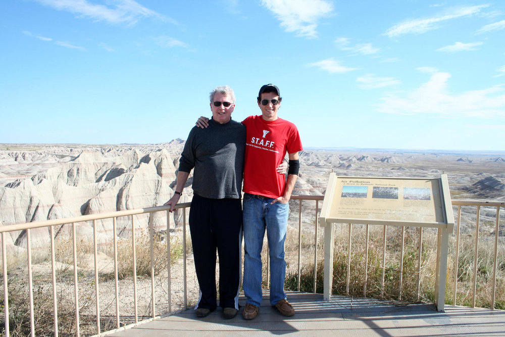 The Author and his father, Badlands National Park, photo by Robby DeGraff.