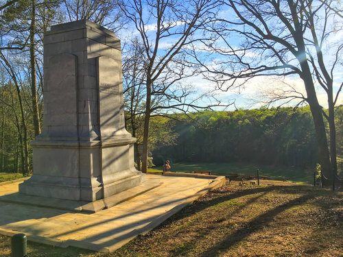 "Monument to the Illinois Regiment, overlooking the ""Dead Angle"", photo by Derek Wright."