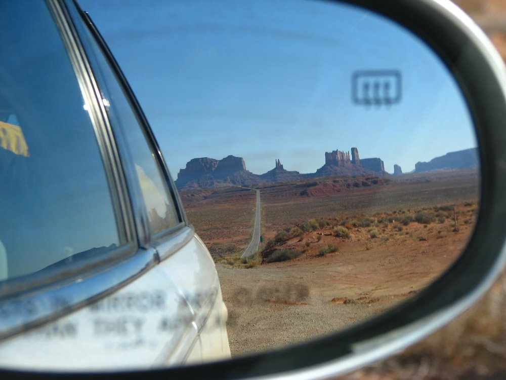 Looking back to Monument Valley Navajo Tribal Par k , photo courtesy Lauren Smith.