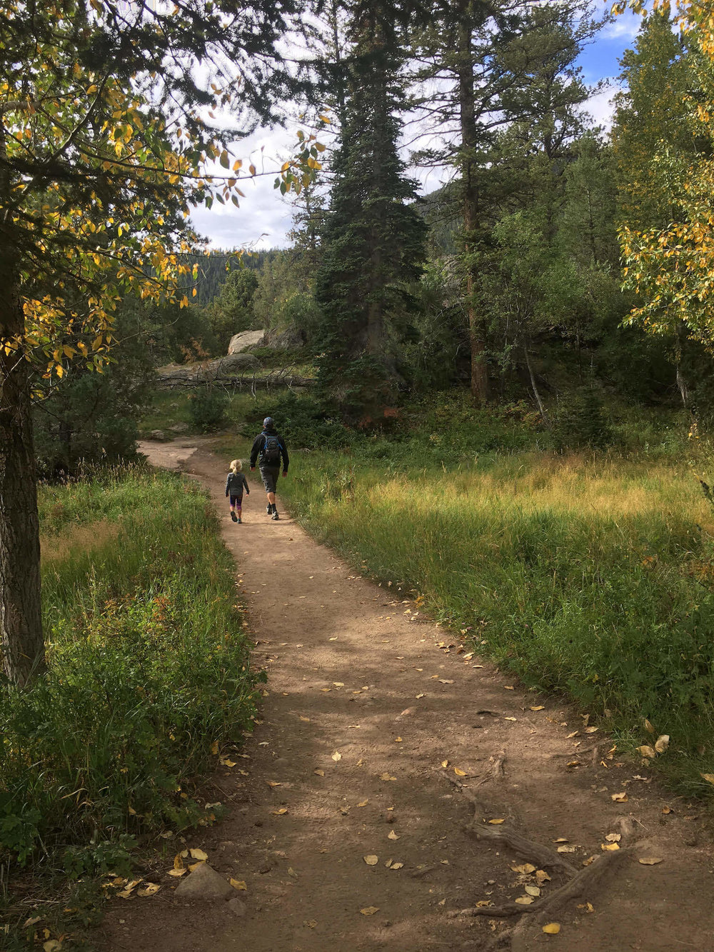 On the trail in Rocky Mountain National Park, photo by Courtney Johnson.