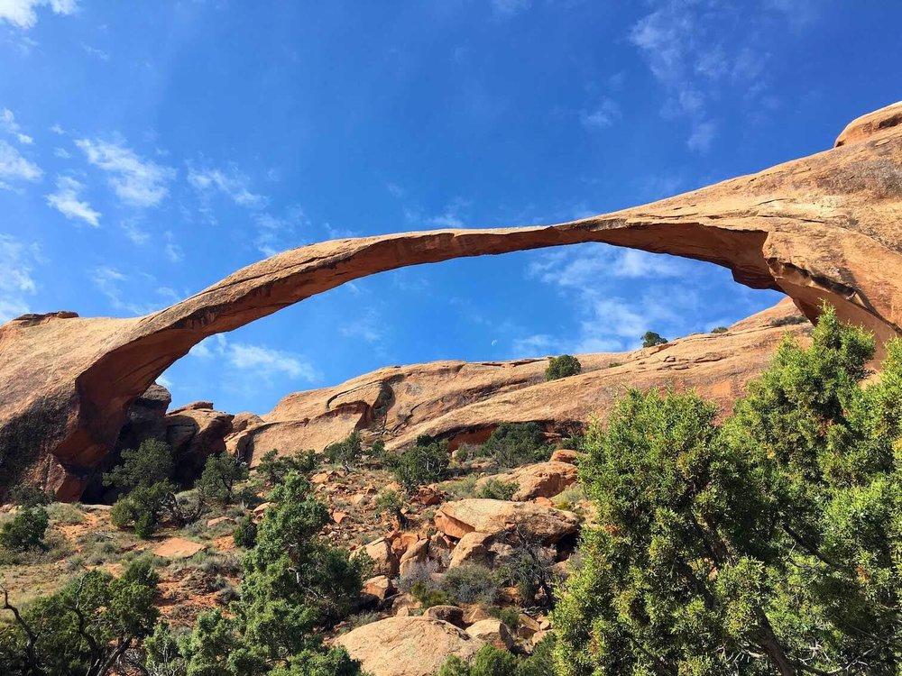 Landscape Arch, Arches National Park.
