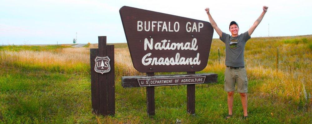 Buffalo Gap National Grassland sign