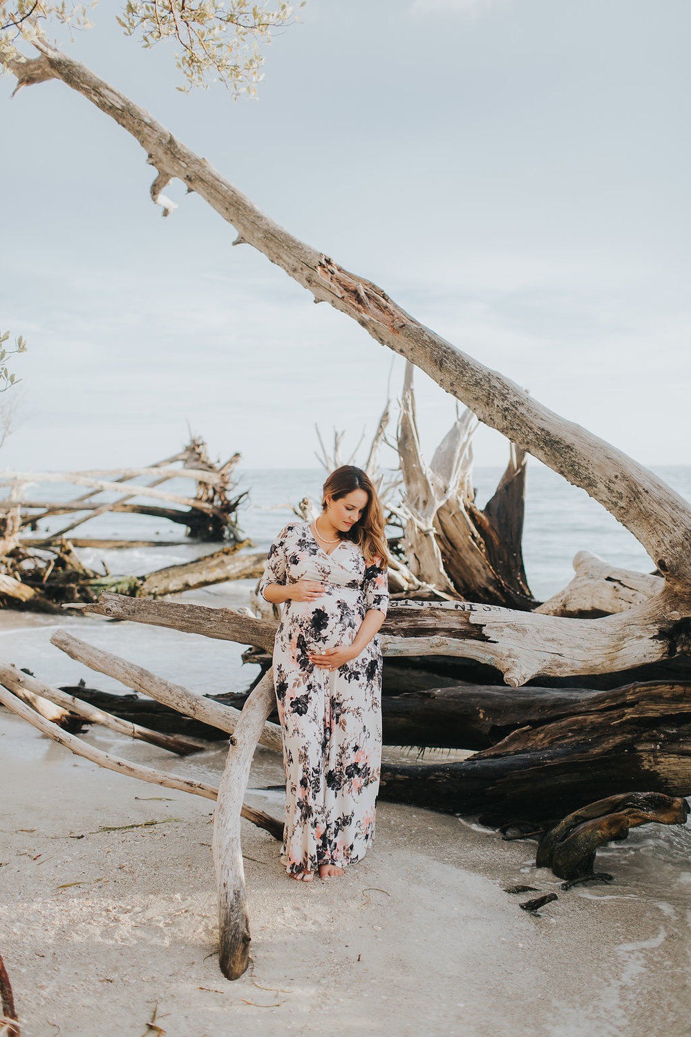 longboat key floral maternity session at beer can island moody_14.jpg