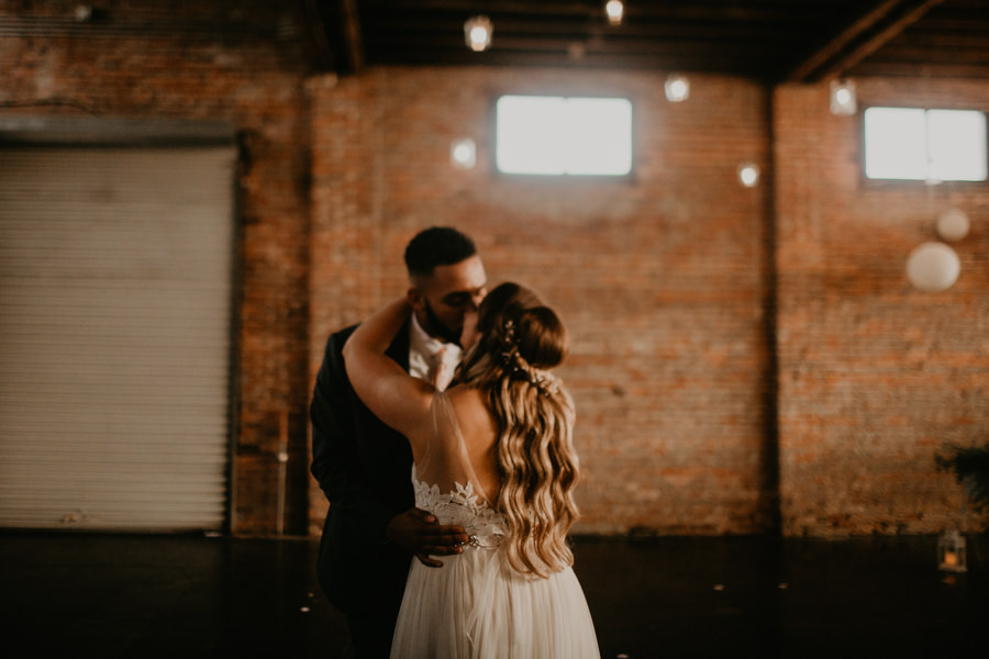 VeronicaandGarrett's Industrial Cavu Tampa Heights Wedding BHLDN gown Salt Block Hospitality Fancy Free Nursery Foundation Coffee-192.jpg