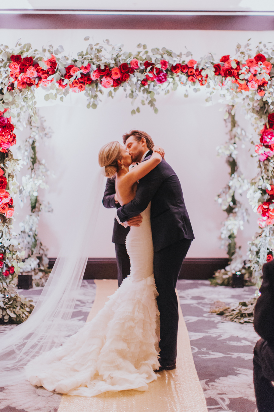 Loren and Alex Kuznetsov Gold and Burgundy wedding at Epicurean Tampa Royal Fall Wedding in Tampa Florida Inside Weddings MD Events Tampa-69.jpg