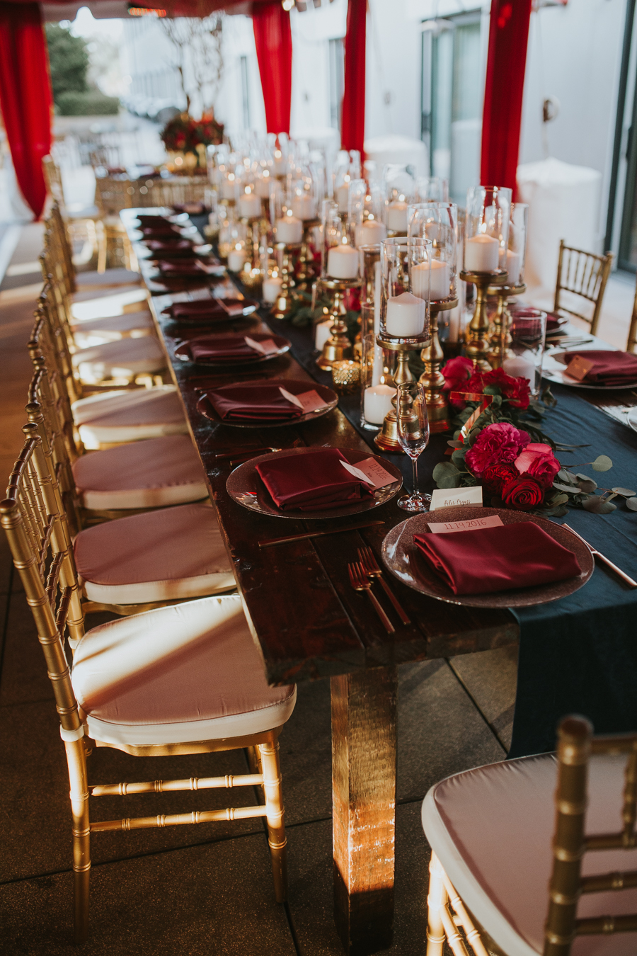 Loren and Alex Kuznetsov Gold and Burgundy wedding at Epicurean Tampa Royal Fall Wedding in Tampa Florida Inside Weddings MD Events Tampa-94.jpg
