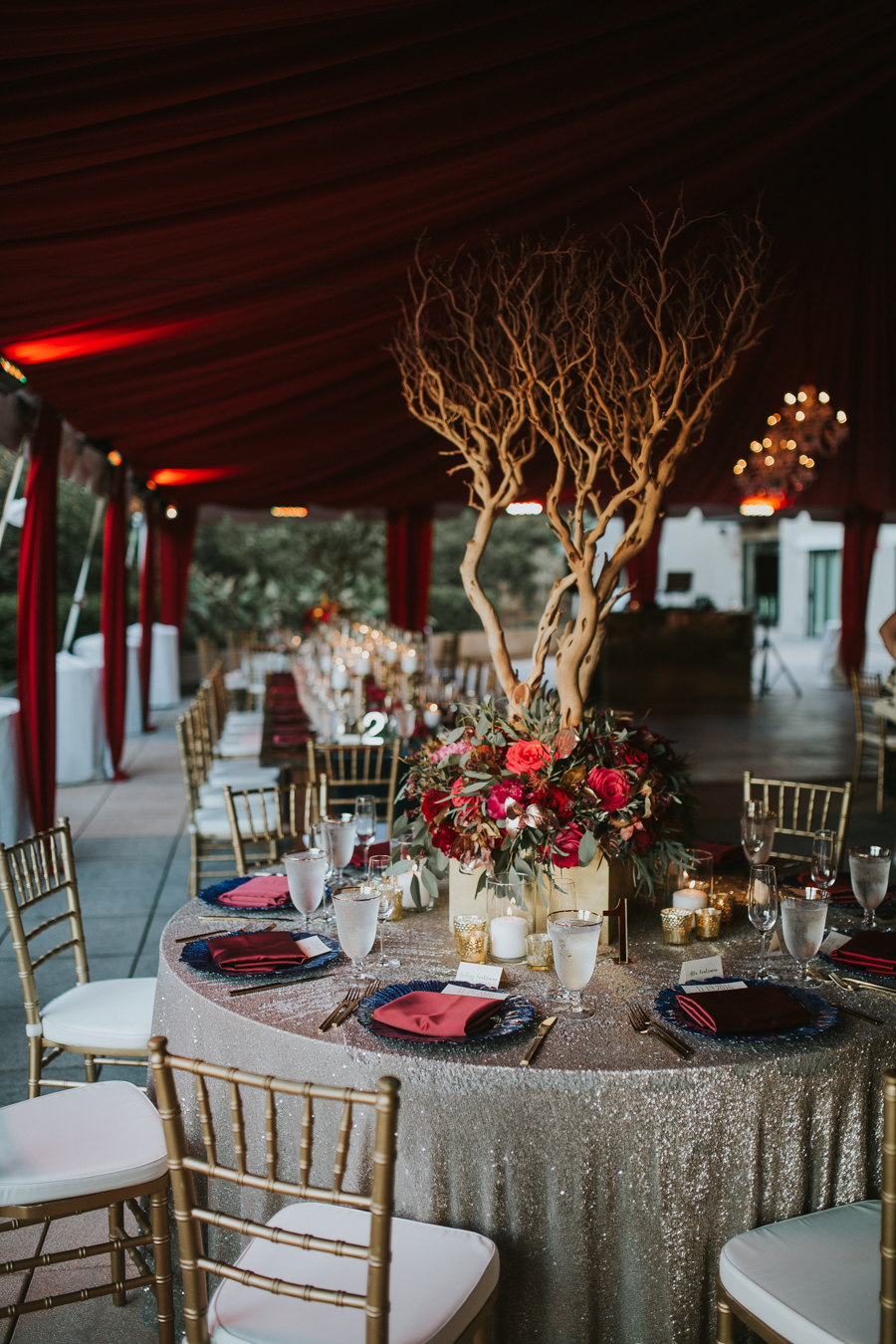 Loren and Alex Kuznetsov Gold and Burgundy wedding at Epicurean Tampa Royal Fall Wedding in Tampa Florida Inside Weddings MD Events Tampa-113.jpg