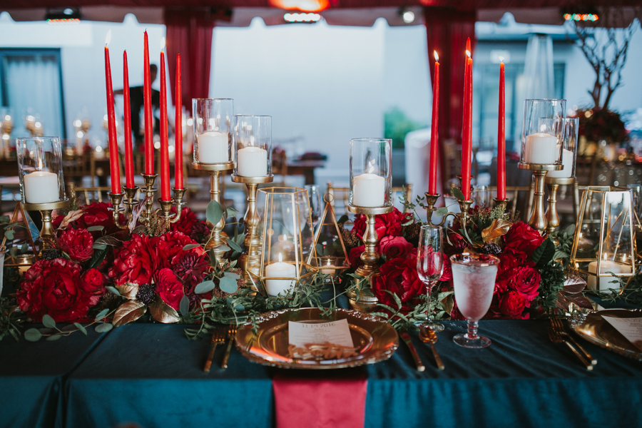 Loren and Alex Kuznetsov Gold and Burgundy wedding at Epicurean Tampa Royal Fall Wedding in Tampa Florida Inside Weddings MD Events Tampa-116.jpg