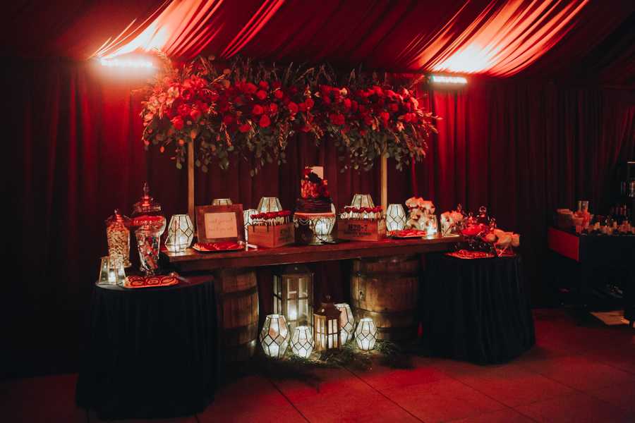 Loren and Alex Kuznetsov Gold and Burgundy wedding at Epicurean Tampa Royal Fall Wedding in Tampa Florida Inside Weddings MD Events Tampa-146.jpg