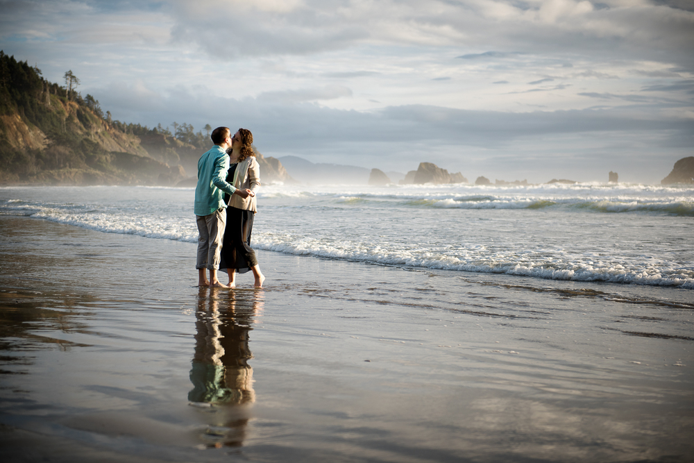 Indian Beach Engagement Session, Ecola State Park, Cannon Beach, OR