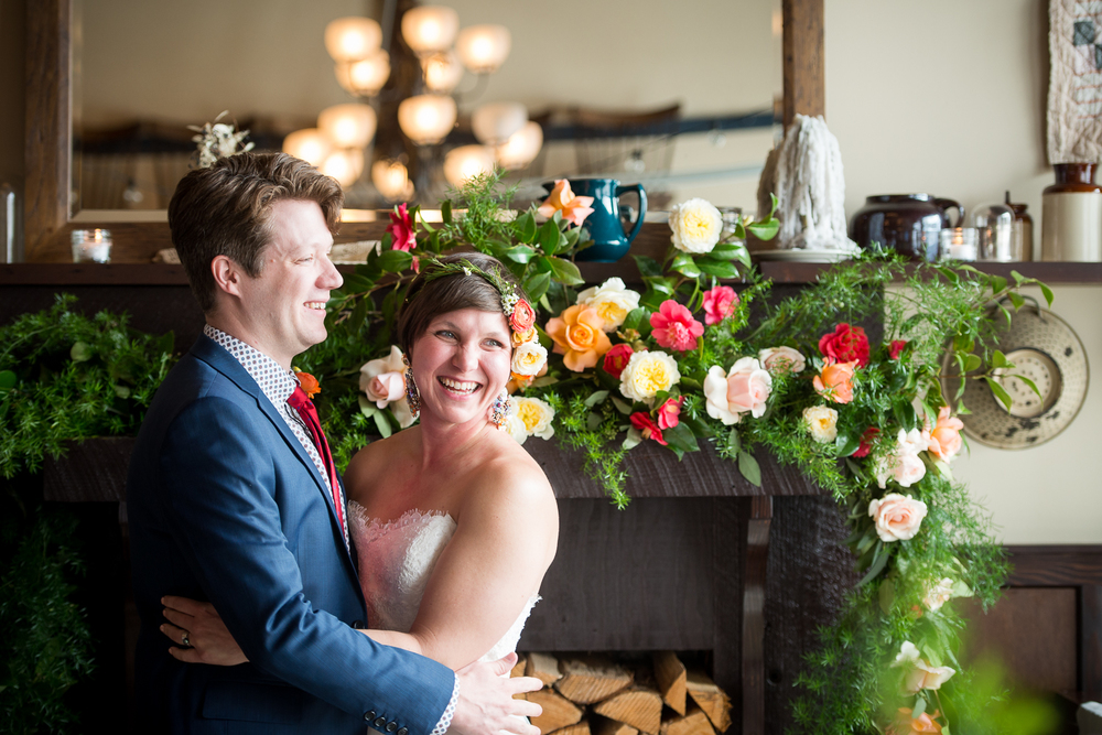 Wedding Ceremony at Elder Hall (Ned Ludd's event space), Portland, OR