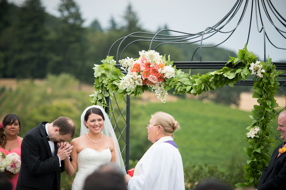 Zenith Vineyard Wedding Ceremony, Salem, OR