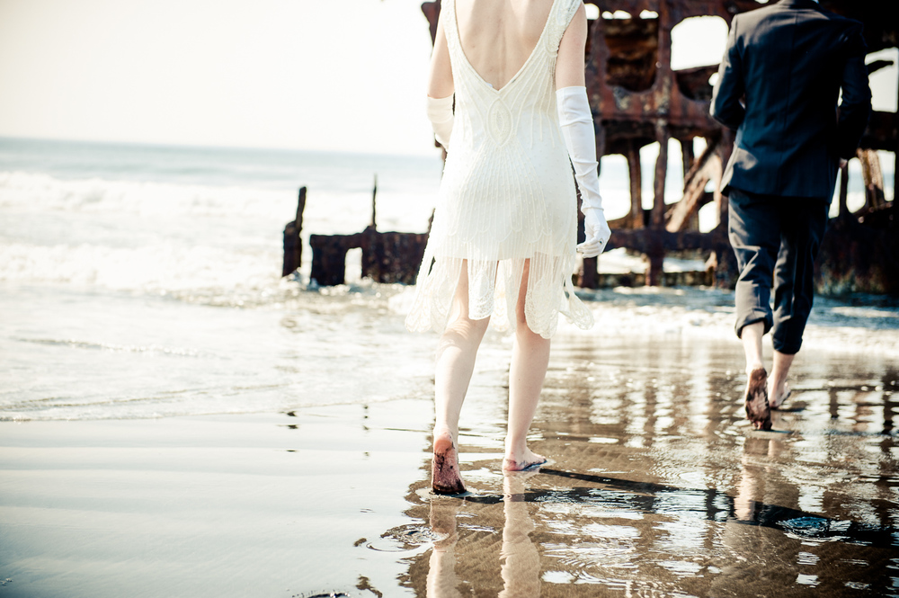 Shipwreck Beach Wedding, Ft. Stevens State Park, Oregon Coast