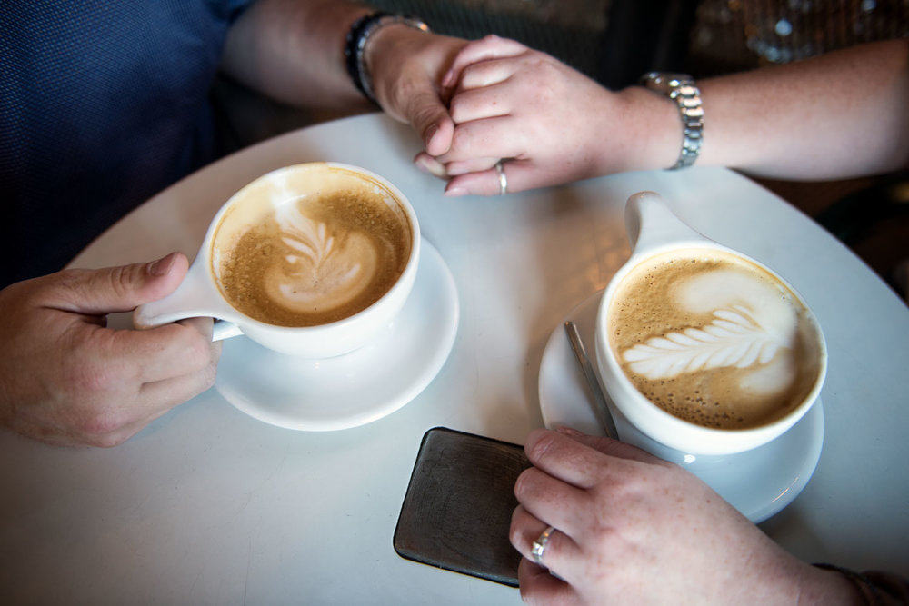 Coffee Shop Engagement Session, Portland, OR