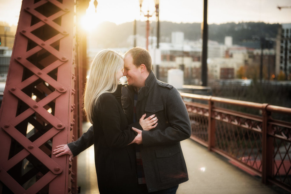 Broadway Bridge Engagement Session, Portland, OR