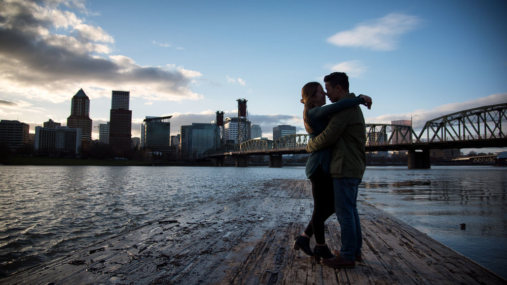 Waterfront Engagement Session, Portland, OR