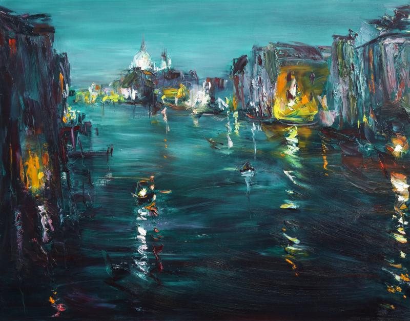 迷走威尼斯-黃昏河畔