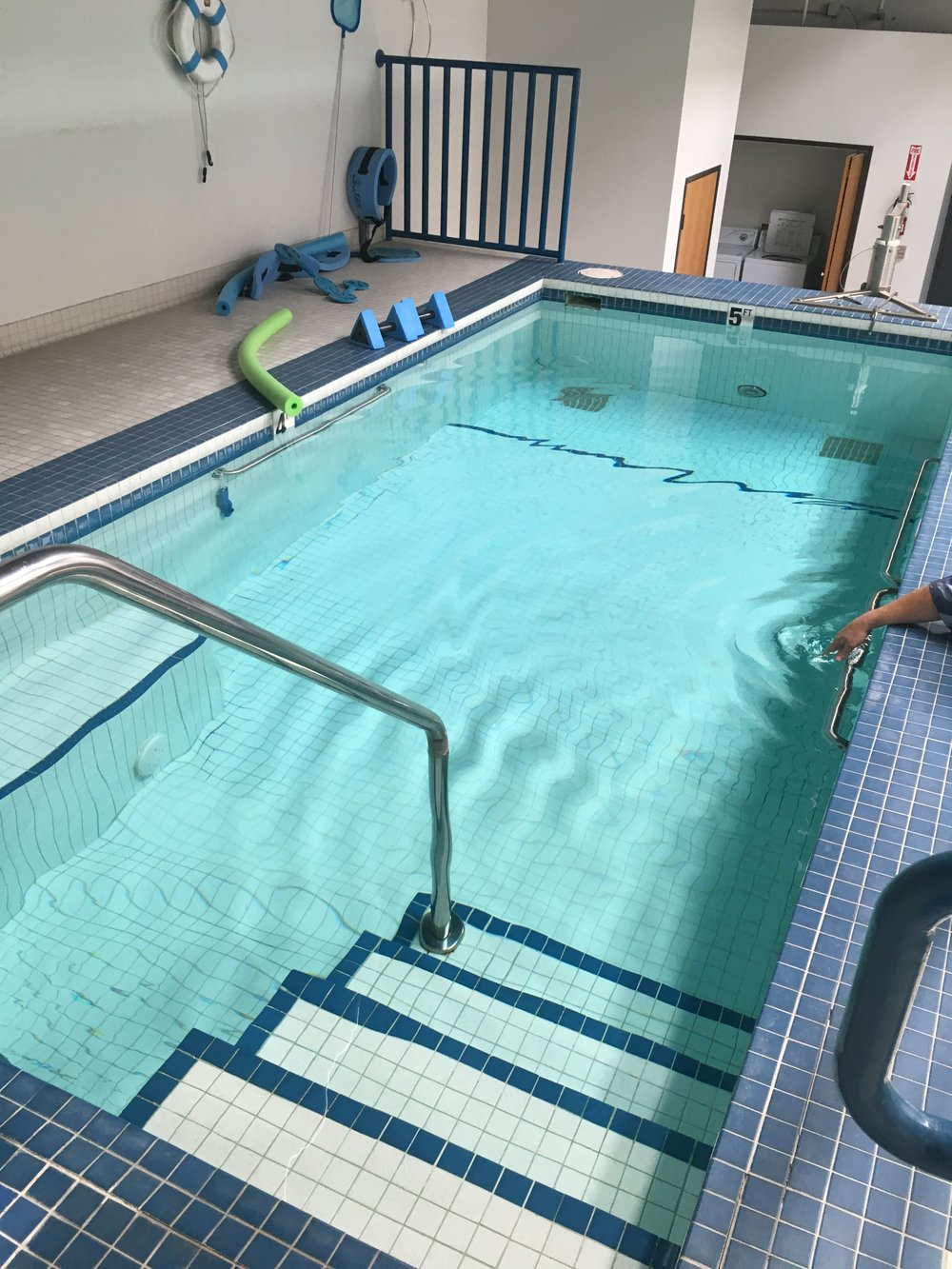The indoor heated pool at our new home 10431 Commerce Street.