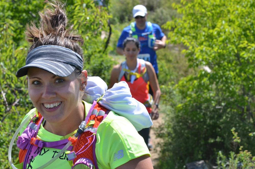 Amanda Morgan's beautiful smile on the trails