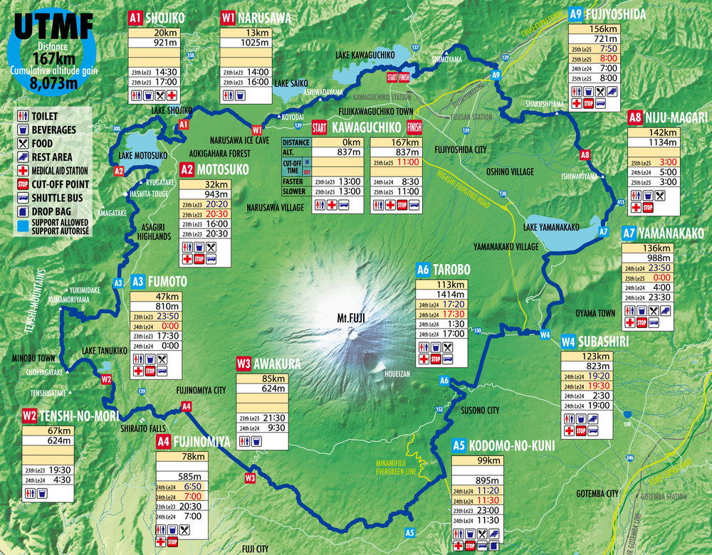 UTMF race course, STY race course from A5 to finish