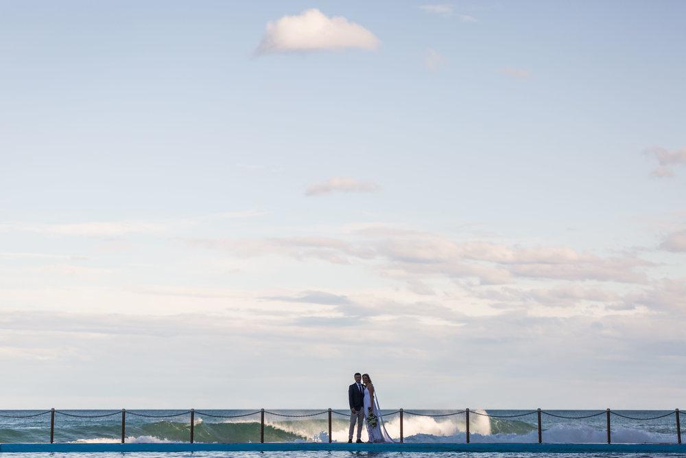 Bilgola Beach Wedding. Relaxed, natural wedding photography Sydney.