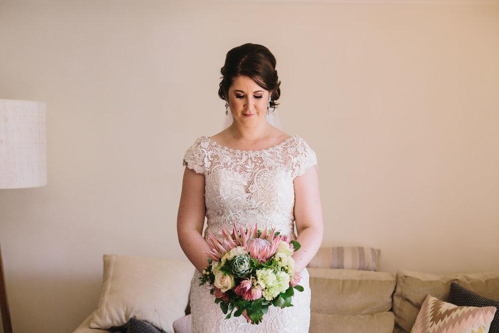 Bride with her bouquet. Sydney wedding photographer
