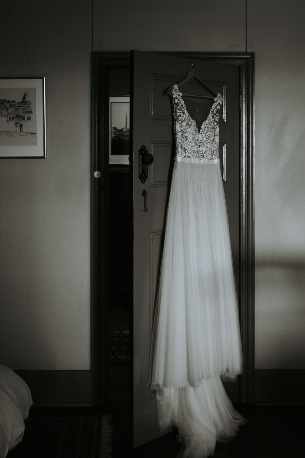 Wedding dress photo. South Coast wedding photography