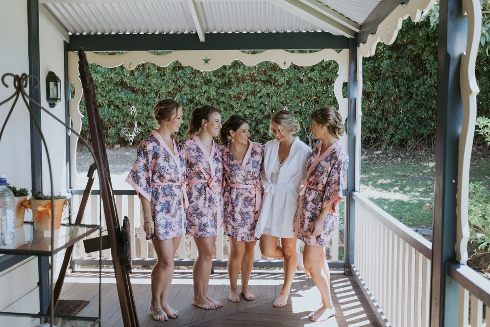 Bridal party getting ready. Natural south coast wedding photography