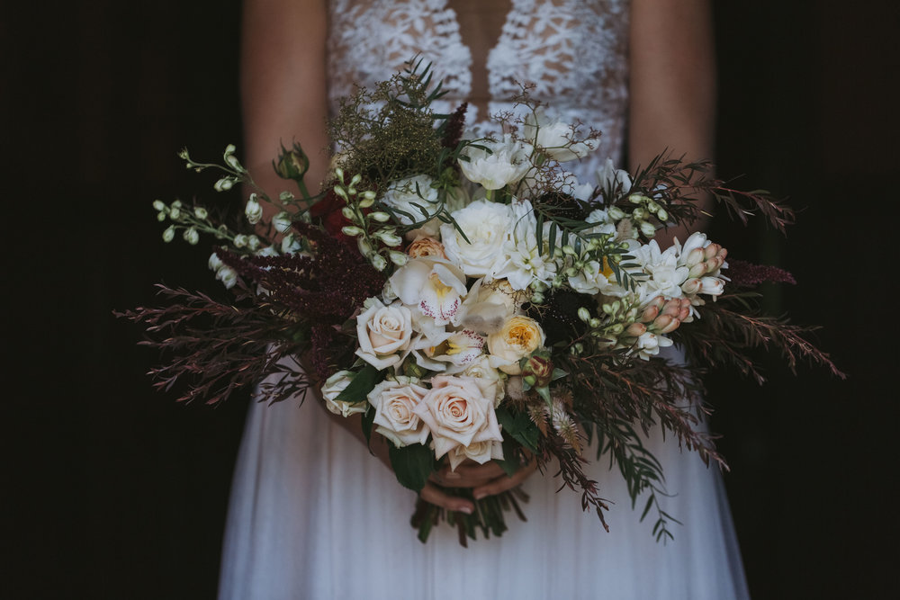 Bridal bouquet. Natural, relaxed wedding photography Kiama
