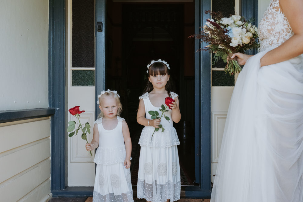 Flower girls.Natural, relaxed wedding photography Kiama