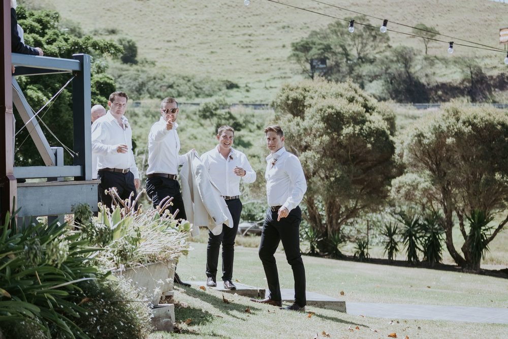 Groom and groomsmen photo. Natural, relaxed wedding photography Kiama