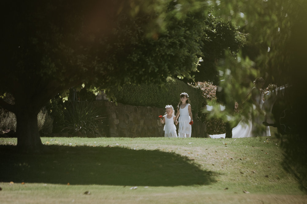 Flower Girls Photo. Candid wedding photography. South coast Wedding